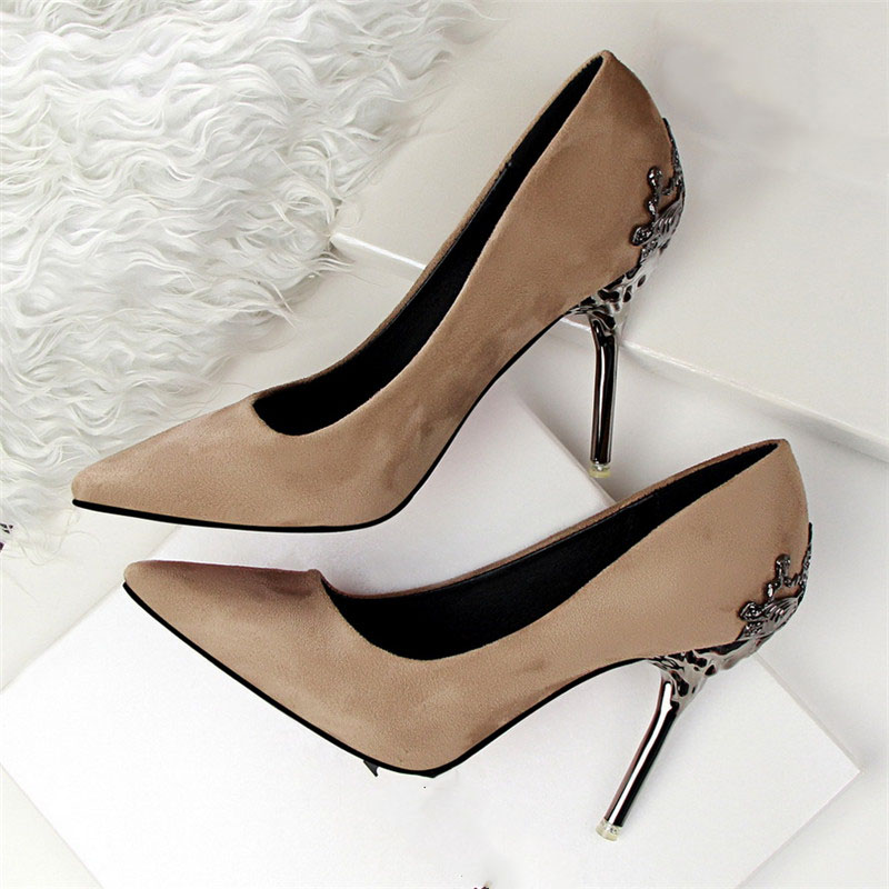 Sexy High Heels Shoes Woman Pumps Red Gold Silver High Heels Shoes Woman Ladies Wedding Party Shoes 2018 10