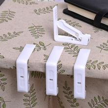 4pcs/lot Tablecloths Table Desk Cover Holder Skirt Clips Grips Fit Stainless Steel Spring Tablecloth Plastic Clip For Party BBQ