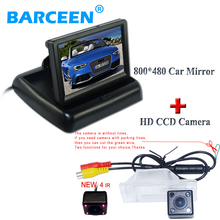 "Camera with monitor collocation suit include wire 4.3"" car screen monitor with car parking camera  in stock for Nissan X-Trail"