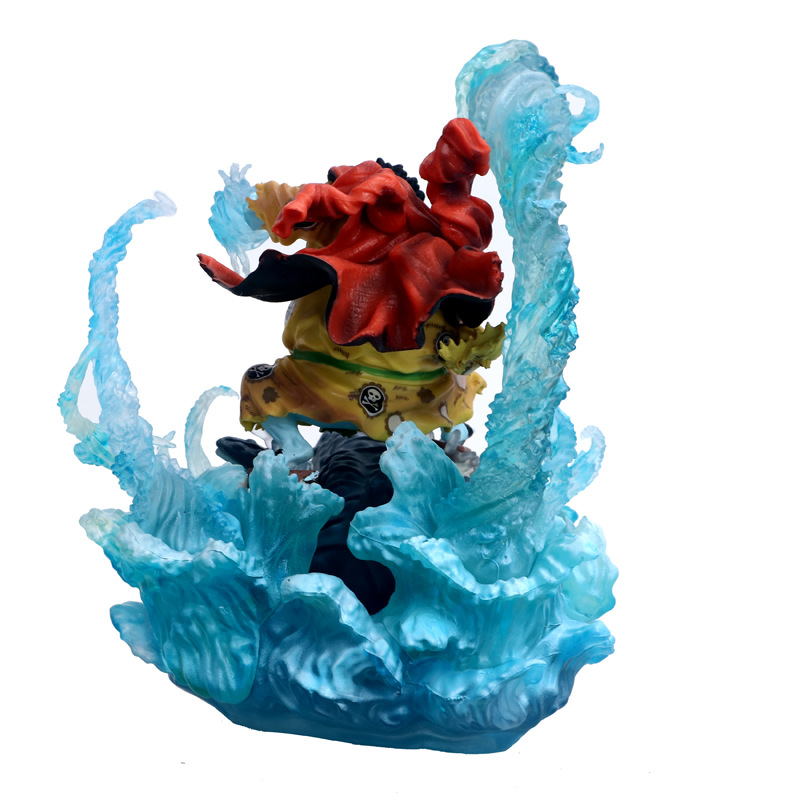NEW hot 21cm One Piece War damage Jinbe Action figure toys doll Christmas gift no box (1)