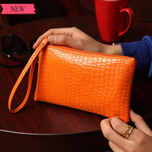 Fashion Women crocodile skin Leather Cell Phone Bag Wallet luxury evening handbag For Samsung For iPhone 7 For Huawei For HTC LG