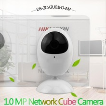 Hikvision DS-2CV2U01FD-IW 1.0 MP Network PT Camera Build-in Microphone Speaker Wifi Baby Monitor IP Camera