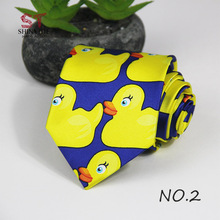 Professional Handmade Necktie Yellow Rubber Duck From Hot TV Show How I Met Your Mother 1PC 8CM Width Customizable Ducky Tie(China)