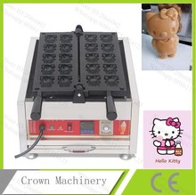 Cartoon Cat Waffle Machine;Commercial Non-Stick Electric Waffle Baking Oven Mold Plate(China)