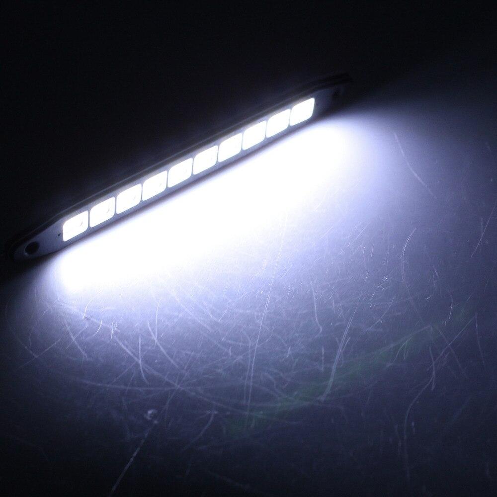 2pcs Car LED Daytime Running Light Strobe Lamp Reversing Light Parking Fog Light with 10pcs LEDs 450LM 6500K Flexible Silicon<br><br>Aliexpress
