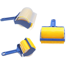 Washable Sticky Hair Sticky Built-in Rubber Brush Wool Dust Catcher Carpet Sheets Sucking Dust Drum Lint Rollers Cleaning Tool(China)