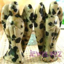 5pcs Fashion Natural Black Spot Stone bead Angel Charms Statue Carved Angel Figurine Beads With Wing Pendant bead Pendants(China)