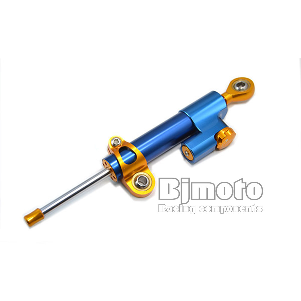 Blue motorbike CNC Alloy  Universal   Adjustable Steering Damper Top Quality<br><br>Aliexpress