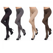 Buy 1PC Pantyhose 120D Opaque Tights Anti-hook Wire Fashion Thick Warm Winter Footed Velvet Women Solid Color