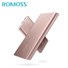 New Original ROMOSS 10000mAh GT1 Power Bank Aluminum Alloy External Backup Battery Pack Charge for iPhone 7 plus & Samsung