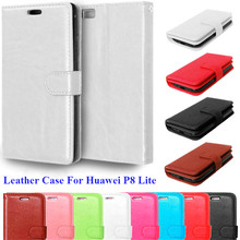 Luxury Retro Leather Case For Cover Huawei P8 Lite Wallet Card Holder Vintage Flip Stand Cover For Coque Huawei P8 Lite Case