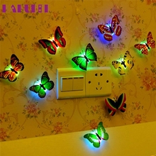 Zero Can Paste  LED  Creative Colorful Small Fancy Lantern Butterfly