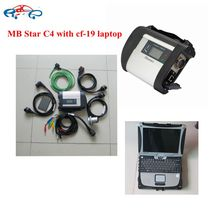 MB Star C4 Mb SD Connect Compact C4 with wifi wireless Function + MB star software V2017.09 +P-anasonic CF19 Laptop READY TO USE(China)