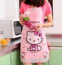 New Fishion lovely Hello Kitty Apron Kitty Transparent Water And Oil Proof Apron