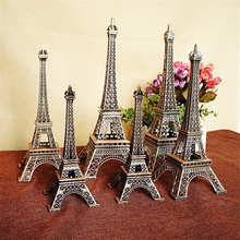 High-quality Red Copper Paris Eiffel Tower Statue Metal Model Home Ornament Craft Furnishing Travel Souvenir Presents for Friend