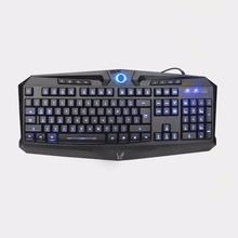 USB Wired Illuminated Computer Keyboard Blue LED Backlit 104 Quiet Keys Waterproof Office Gaming Membrane Keyboard Z-70(China)