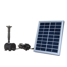 Solar-Powered Pump Brushless DC Solar Power Fountain Pool Water Pump Garden Plants Watering Kit solar pond pump kit 9V 2W(China)