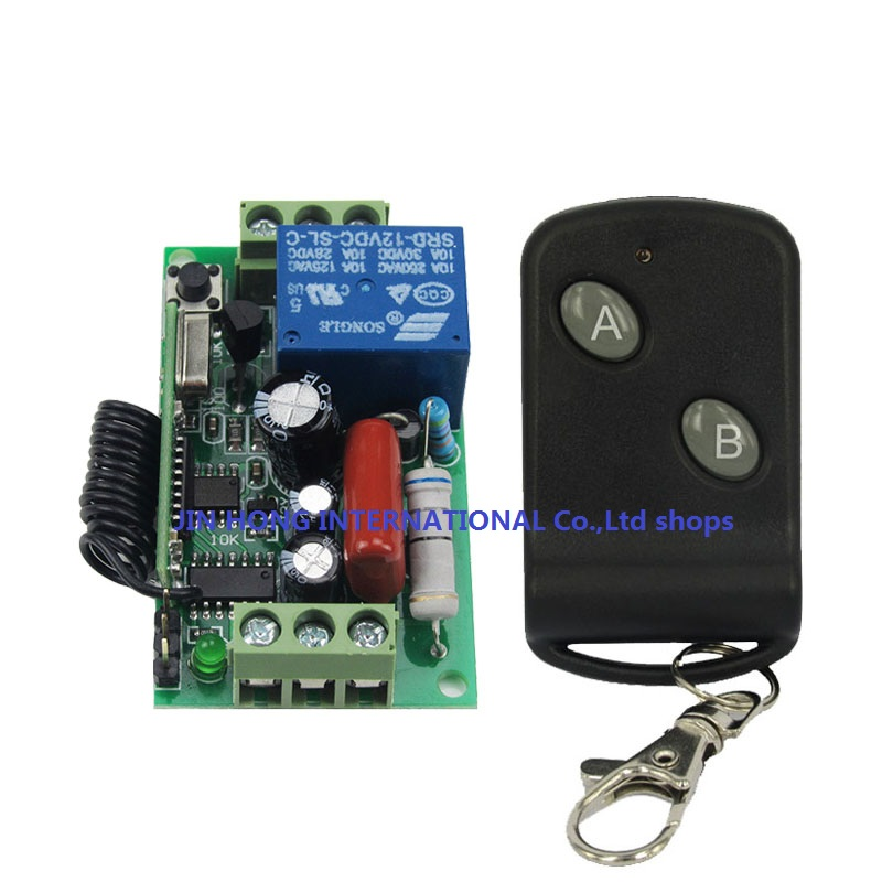 220v 1ch rf wireless remote switch wireless light Lamp LED switch Receiver &amp; AB key Transmitter 315/433 Remote ON OFF Controller<br><br>Aliexpress