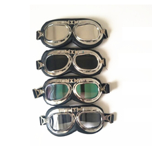 Universal Silver Frame Goggles Motorcycle Glasses Motocross Helmet Goggle Offroad Eyewear Outdoor 5 Colors D10