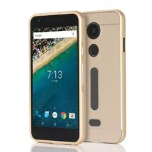 Good Sale For LG nexus 5X Aluminum Case + PC Mirror Back Case Cover dust/water/shock proof Free shipping Mar 24