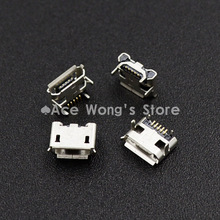New high quality 10pcs Micro USB Connector Jack Female Type 5Pin SMT Tail Charging socket PCB Board