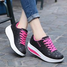 2017 Hot Sale Women Running Shoes Sneakers Brief Stylish Ladies Leather Breathable Shoes Sport Fitness Shake Shoes