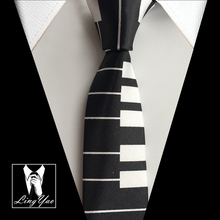 Fashion Music Ties Piano Gravatas for Men 5cm Narrow Ties Free Shipping