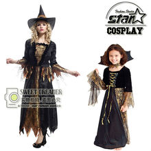 Kid's Halloween Dress Vampire Clothes Family Matching Clothing Suit Movie Props Evil Performance Dress Girl Stage Costume(China)