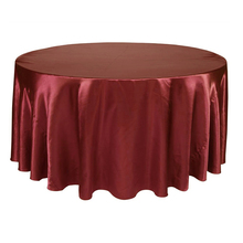 10pcs Round Table Cloth Tablecloth Luxury Polyester Satin Table Cover Oilproof Wedding Party Restaurant Banquet Home Decoration(China)