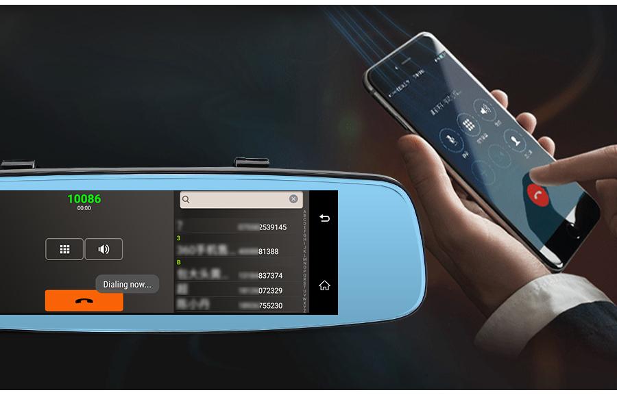 "Junsun 4G ADAS Car DVR Camera Digital Video recorder mirror 7.86"" Android 5.1 with two cameras dash cam Registrar black box 16GB 30"