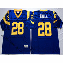 Mens 1999 Marshall Faulk Stitched Name&Number Throwback Football Jersey Size M-3XL(China)
