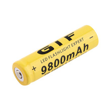3.7V 18650 9800mAh Capacity Li-ion Rechargeable Battery For Flashlight Torch Yellow Shell Battery For Torch Low Reoccurring