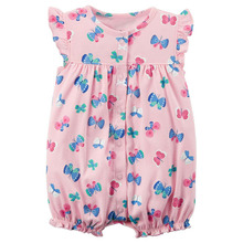 2018 Baby Girl Summer Rompers Baby Girl Clothes Boy Romper Tiny Cotton Jumpsuit Cute Butterfly Newborn Baby Costume Baby Clothes