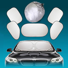 6 Pcs/Set Silver Aluminium Foil Flap Car Sun Shade Window Car Curtain Auto Sun Shade Styling Covers Rear Head Back Side Window