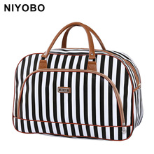 Women Travel Bags 2017 Fashion Pu Leather Large Capacity Waterproof Print Luggage Duffle Bag Casual Travel Bags PT1083(China)