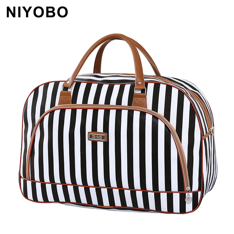 Women Travel Bags 2016 Fashion Pu Leather Large Capacity Waterproof Print Luggage Duffle Bag Casual Travel Bags PT1083(China)