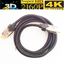 Braided HDMI 2.0 cable 5M 1.8M Ultra HD 2160p 4k ARC Ethernet 4kX2k 3D with mesh&metal case(China)
