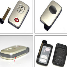 Blank smart card shell case For Toyota 4Runner Venza Case Fob 2+1 Button With Insert Small Key