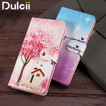 DULCII Case for Lenovo A 6010 A6000 Phone Bag PU Leather Flip Cover for Lenovo A 6000 A6010 Plus Smartphone Protect Shell(China)