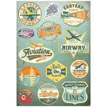 13x Sticker Vintage Travel Airline A4 Size Phone iPad Tablet Laptop Luggage Skateboard Bicycle Motorcycle Auto Car Styling Decal(China)