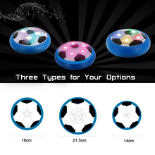 Floating Air Power Soccer Ball Colorful Disc Indoor Football Toy with LED Lights Multi-surface Hovering and Gliding Sport Toys