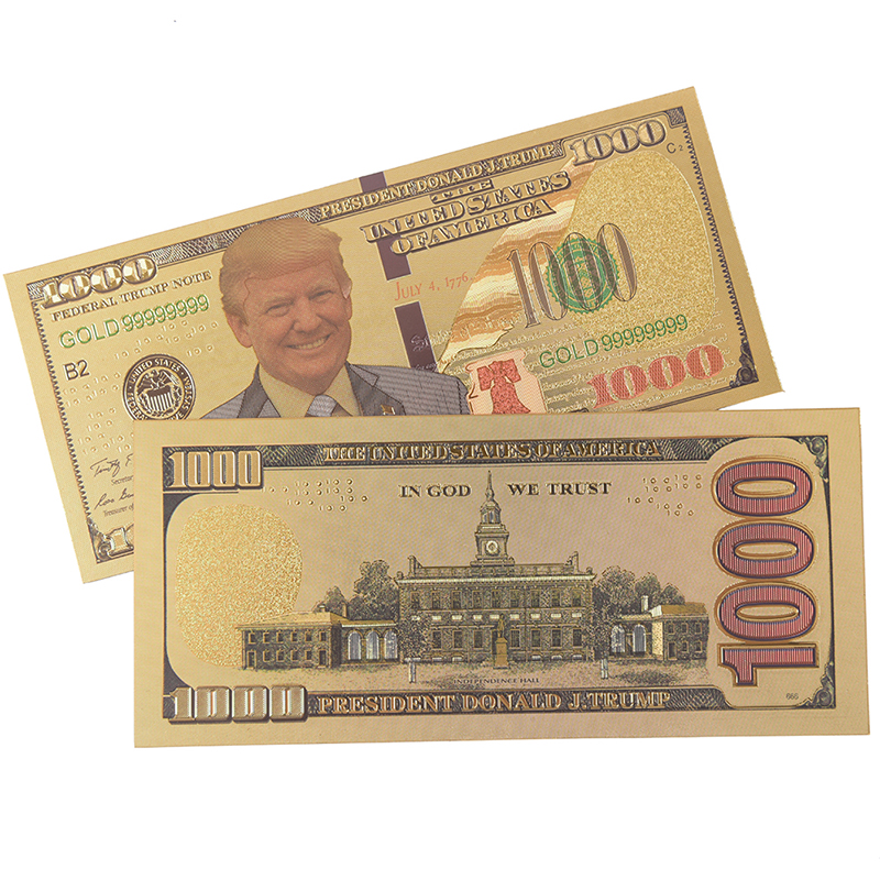 USA Gold Plated Paper Money Non Currency Collection Gifts Crafts Banknotes/Zimbabwe Gold Foil Banknote 3 Styles