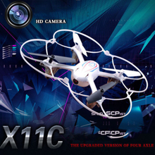 Mini rc Drone X11C 2.4G 4CH 6 Axis Gyro RC Quadcopter RTF RC Helicopter With 2MP HD Record Video Camera RC toy for kid best gift(China)