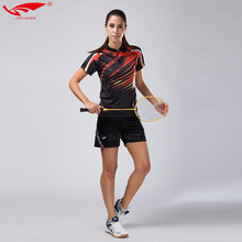 Women table tennis shirt female sportswear short sleeve golf polo T shirts adult good quality quick dry badminton set clothes(China)