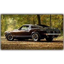 Muscle Cars 16911 Ford Mustang Poster Custom Home Decoration Fashion Silk Canvas Fabric Wall Poster Car Design Wallpaper YL032