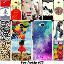 Hard Plastic Soft TPU Silicon Mobile Phone Case For Microsoft Nokia Lumia 650 650 DS N650 5'' Cover 18 Fashion Pictures Housing