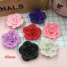 Free Shipping!! Resin Newest Big Clay Flower for Crafts Making, Scrapbooking, DIY (40mm)(China)