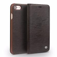 Buy QIALINO Case iPhone 8 Luxury Genuine Leather Flip Folio Cover iPhone 7 8 plus Ultra Slim Card Slot 4.7/5.5 holster Bags for $21.05 in AliExpress store