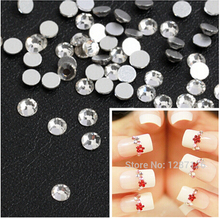 ss3 1440pcs/pack Flat Back Best  Crystal Clear ( 3d Nail Art decorations ) Non Hot Fix Glue on rhinestones for nails diy