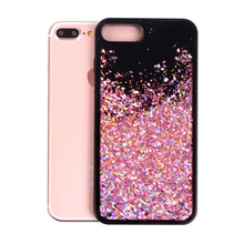 Luxury Dynamic Liquid Glitter Sand Quicksand Star Cases For iFhone 6 6S Plus 7 7Plus Crystal Clear Phone Back Cover Phone Case